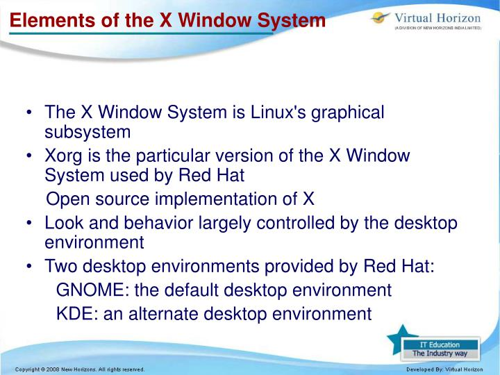 Elements of the X Window System