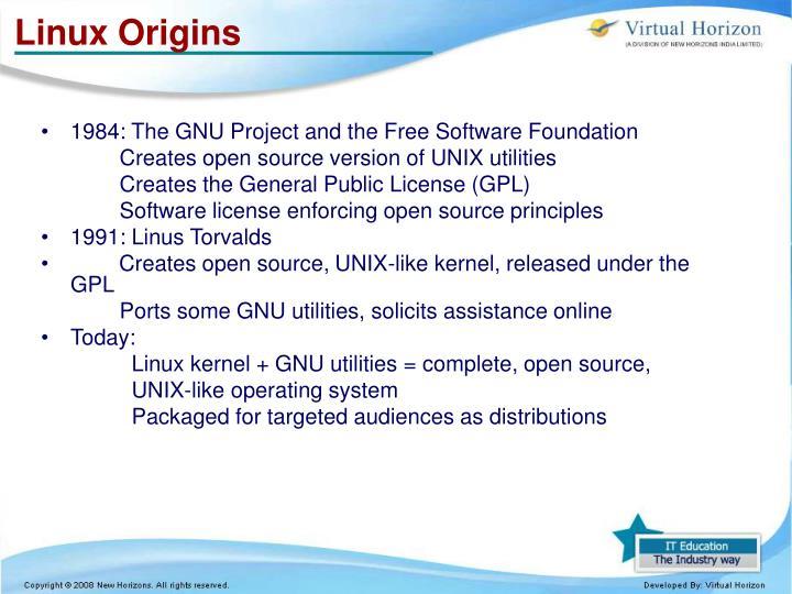 Linux Origins
