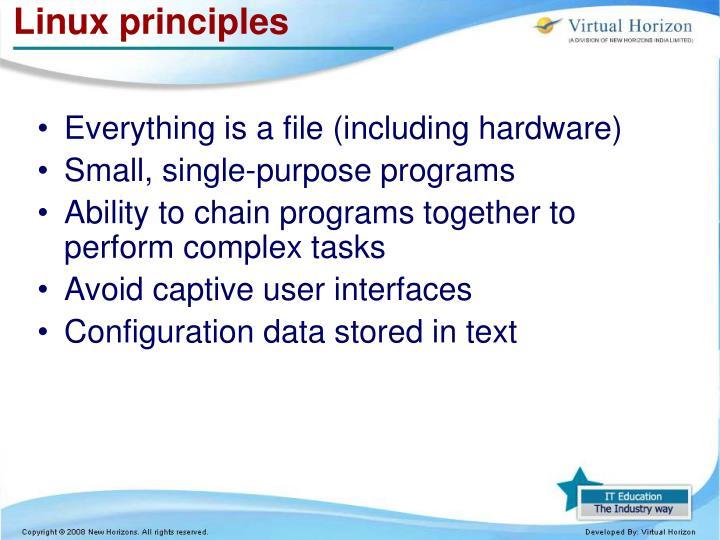 Linux principles