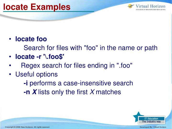 locate Examples