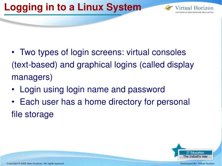 Logging in to a Linux System