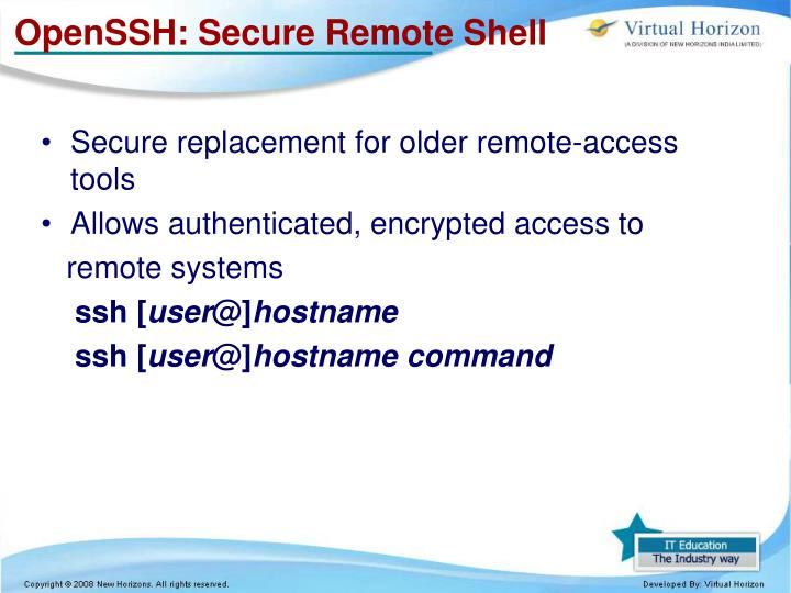 OpenSSH: Secure Remote Shell