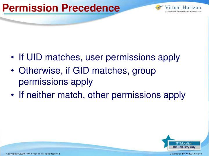 Permission Precedence