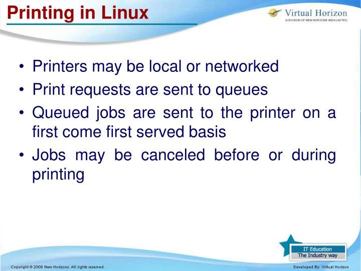 Printing in Linux
