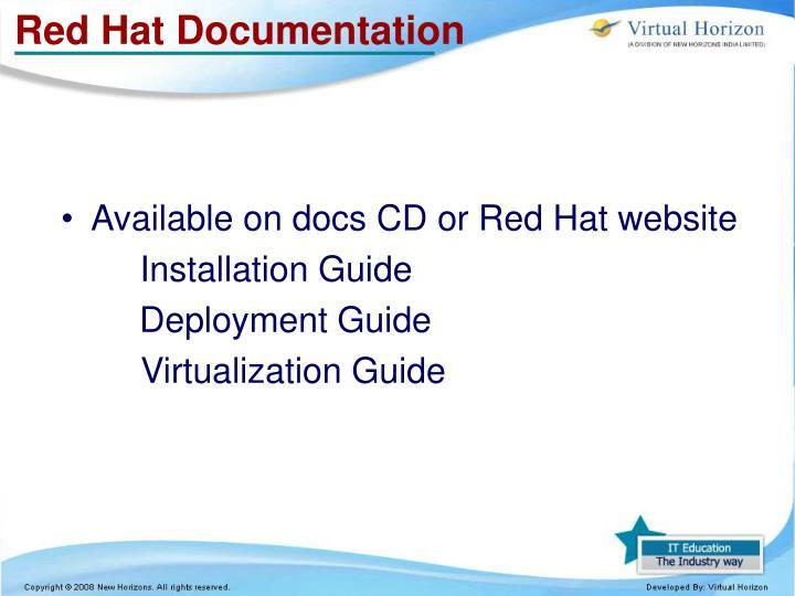 Red Hat Documentation