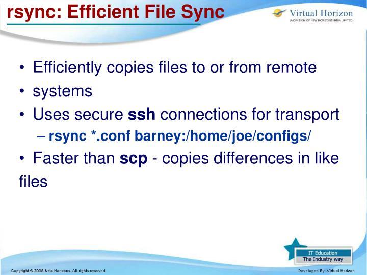rsync: Efficient File Sync
