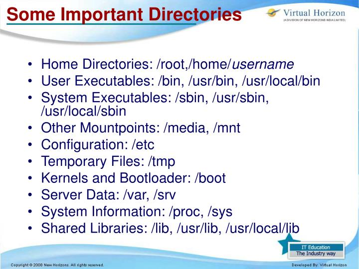 Some Important Directories