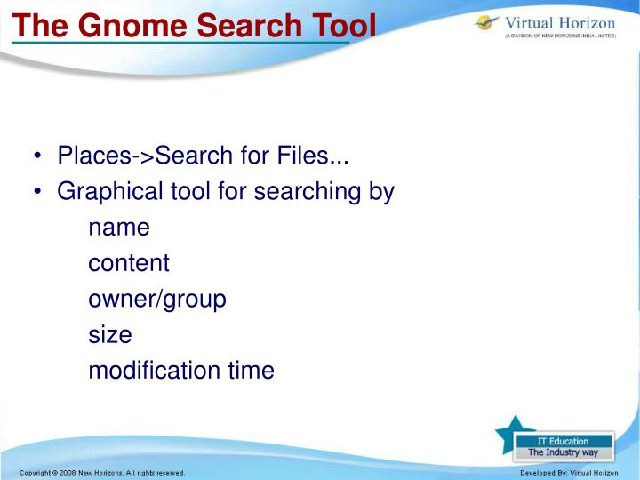 The Gnome Search Tool