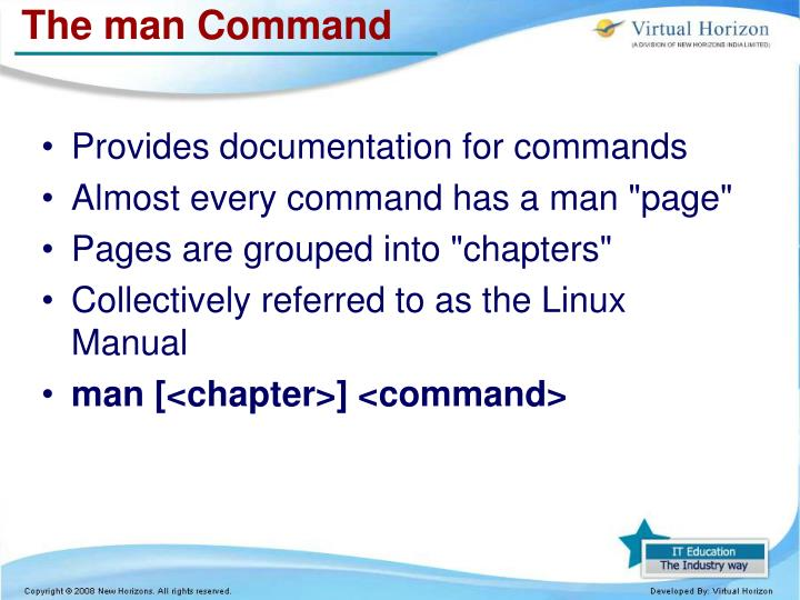 The man Command