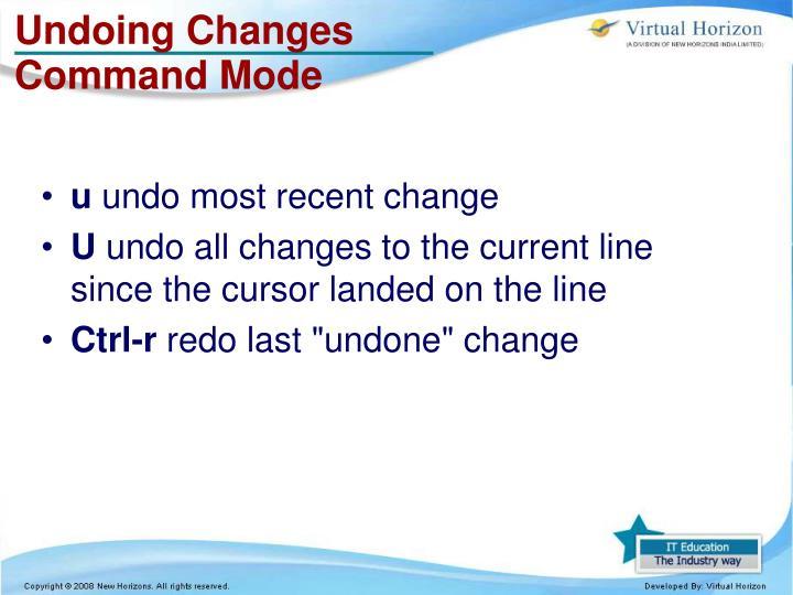 Undoing Changes