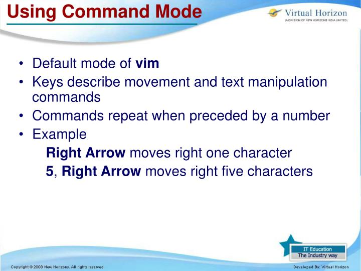 Using Command Mode