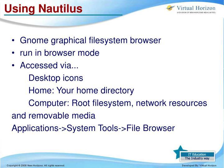 Using Nautilus