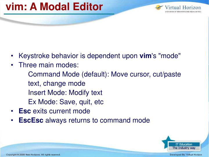 vim: A Modal Editor