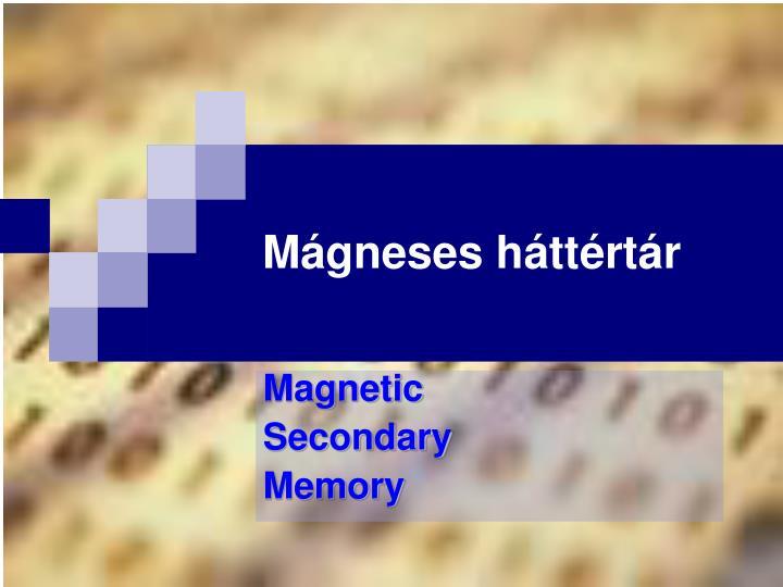 Mágneses háttértár