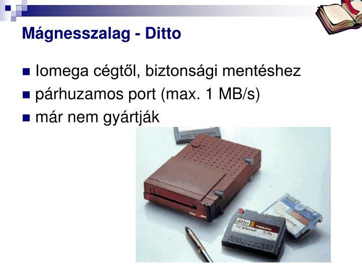 Mágnesszalag - Ditto
