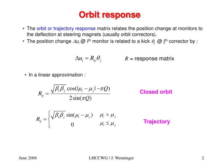Orbit response