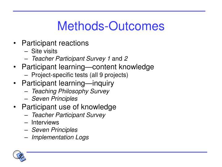 Methods-Outcomes