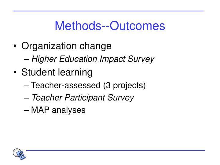 Methods--Outcomes