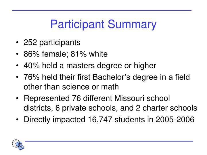 Participant Summary