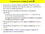 construction of not and s e