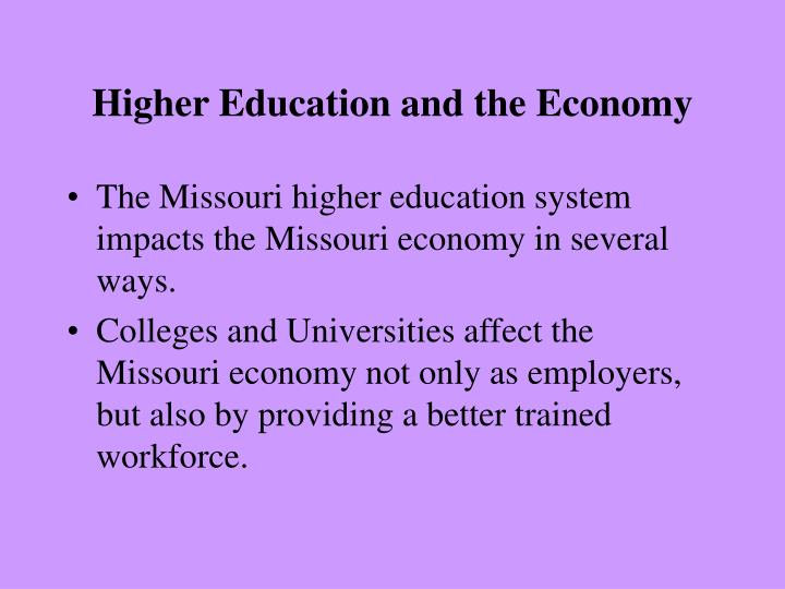 Higher Education and the Economy