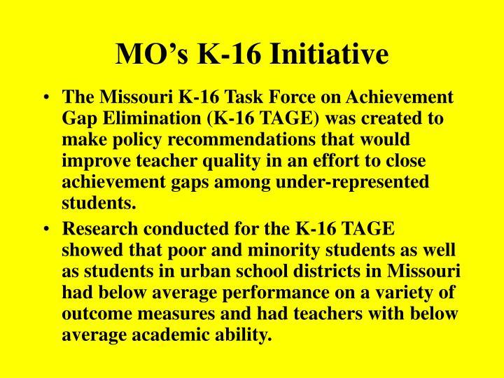 MO's K-16 Initiative