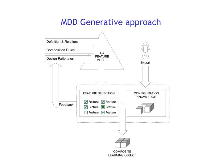 MDD Generative approach