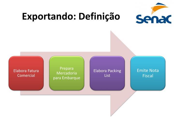 Exportando: Definição