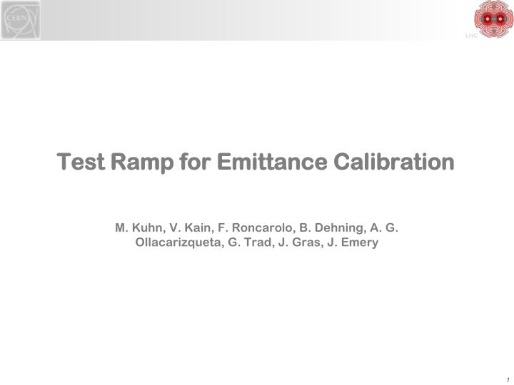Test Ramp for