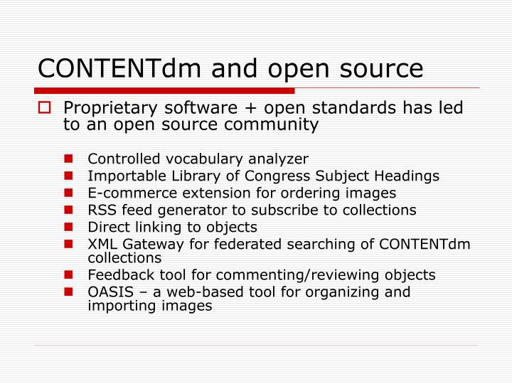 CONTENTdm and open source
