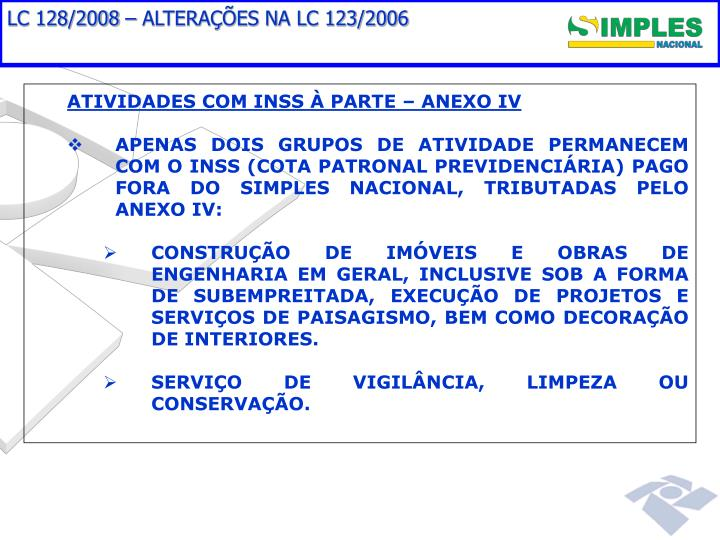 LC 128/2008 – ALTERAÇÕES NA LC 123/2006