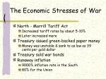 the economic stresses of war