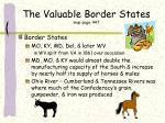 the valuable border states map page 447