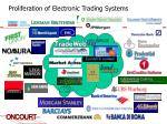 proliferation of electronic trading systems1