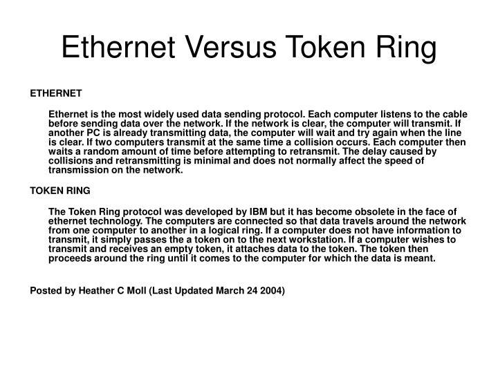 Ethernet Versus Token Ring
