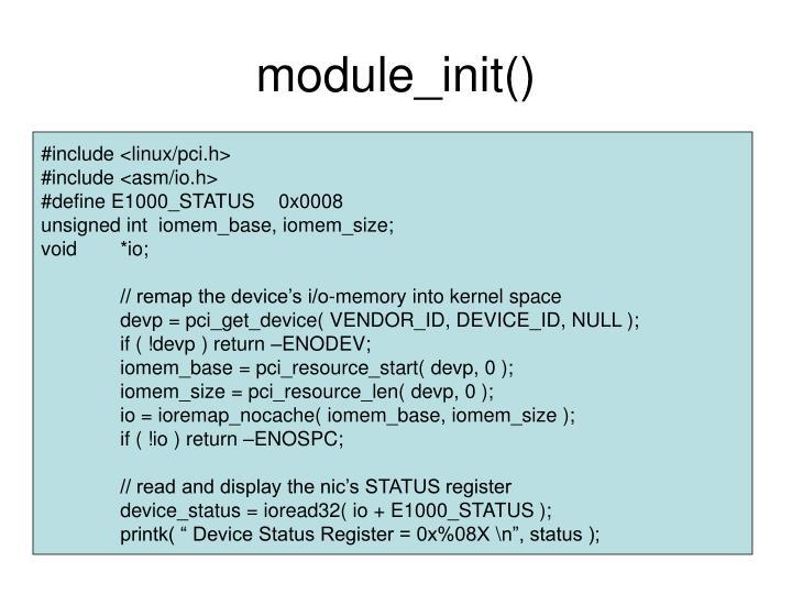 module_init()