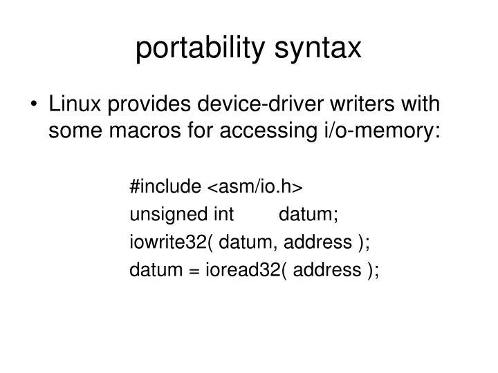 portability syntax