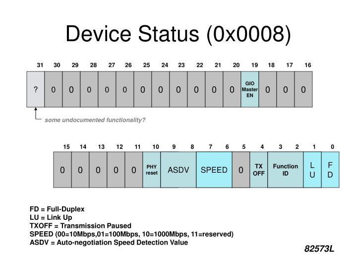 Device Status (0x0008)
