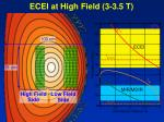 ecei at high field 3 3 5 t