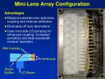 mini lens array configuration
