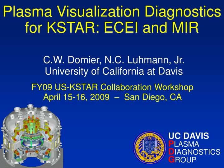 plasma visualization diagnostics for kstar ecei and mir