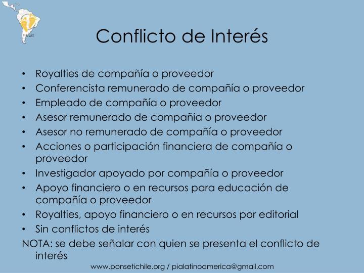 Conflicto de inter s