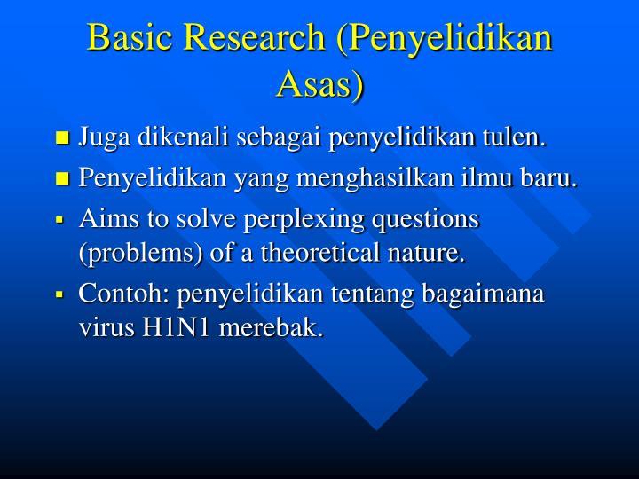 Basic Research (Penyelidikan Asas)