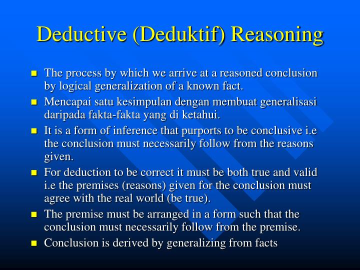Deductive (Deduktif) Reasoning
