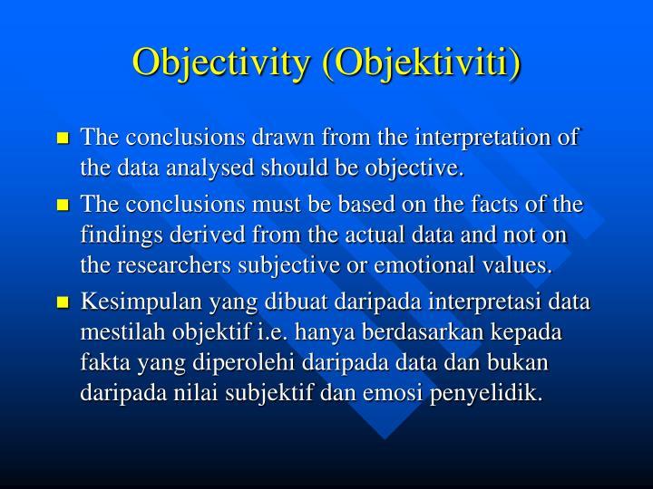 Objectivity (Objektiviti)