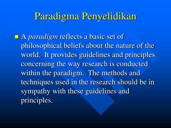 Paradigma Penyelidikan