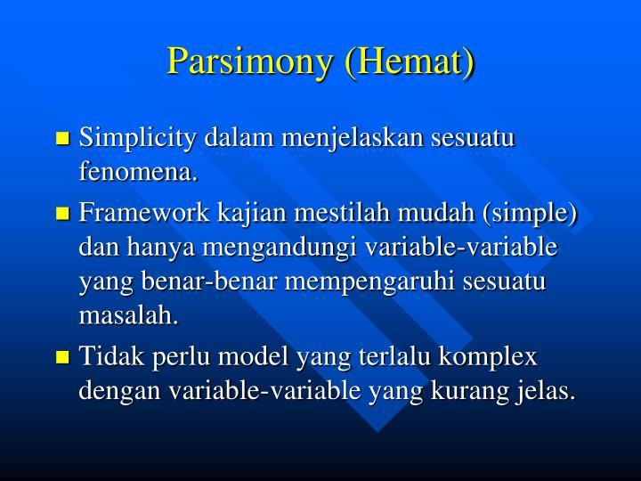 Parsimony (Hemat)