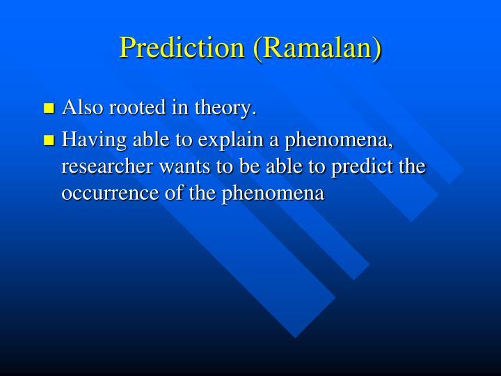 Prediction (Ramalan)