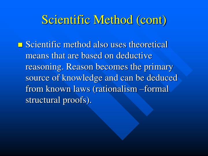 Scientific Method (cont)