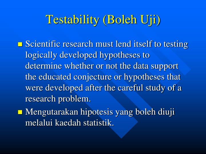 Testability (Boleh Uji)